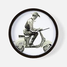 Scooter_Cowboy copy Wall Clock
