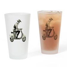 Scooter_Cowboy copy Drinking Glass