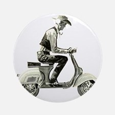 Scooter_Cowboy copy Round Ornament