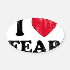 love Fear Oval Car Magnet