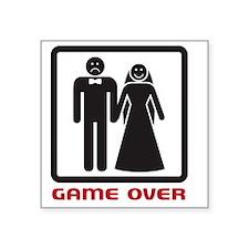 """gameover Square Sticker 3"""" x 3"""""""