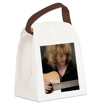 FocusGuitarCroped8x8.jpg Canvas Lunch Bag