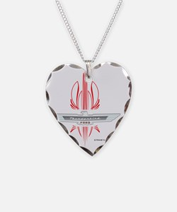 t_bird_Emblem_pinstripes_blk Necklace