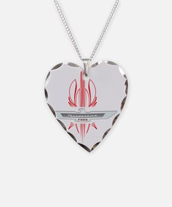 t_bird_Emblem_pinstripes_whit Necklace