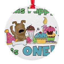 First Puppy Birthday Ornament