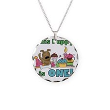 First Puppy Birthday Necklace Circle Charm