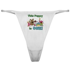 First Puppy Birthday Classic Thong
