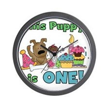 First Puppy Birthday Wall Clock
