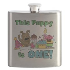 First Puppy Birthday Flask