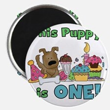 First Puppy Birthday Magnet