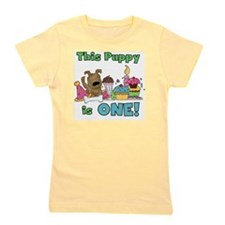 First Puppy Birthday Girl's Tee