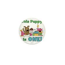 First Puppy Birthday Mini Button
