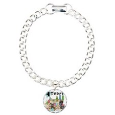 Dogs 4th Birthday Charm Bracelet, One Charm