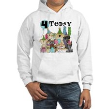 Dogs 4th Birthday Hoodie