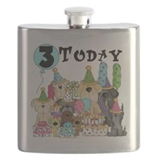 Dogs 3rd Birthday Flask