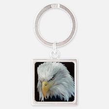Bald Eagle Square Keychain