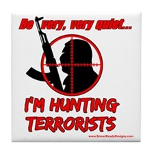 hunting terrorists 2 Tile Coaster