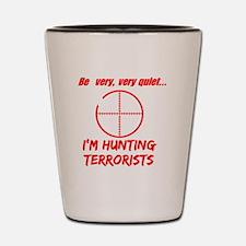 hunting terrorists 2 dark Shot Glass