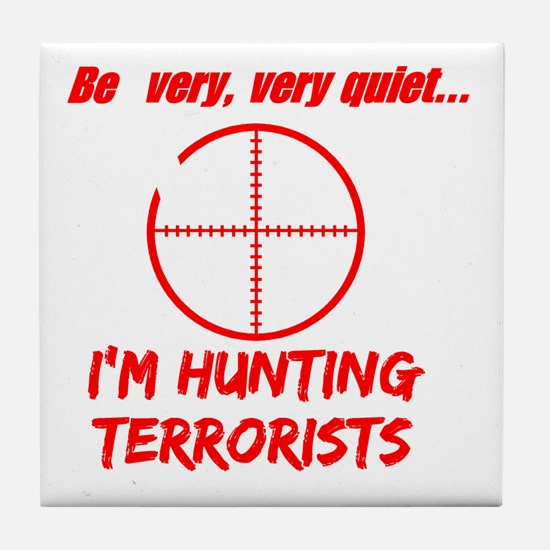 hunting terrorists 2 dark Tile Coaster