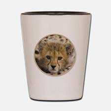 yule cheetah baby Shot Glass