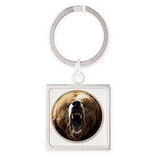 yule bear Square Keychain