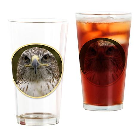 yule hawk Drinking Glass