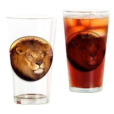 yule lion Drinking Glass