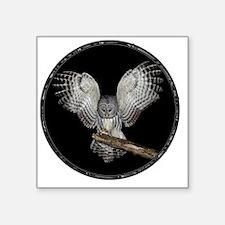 "yule owl 1b Square Sticker 3"" x 3"""