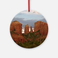 Cathedral Rock, Sedona, AZ Round Ornament