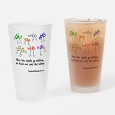 Two Vowels Go Walking Drinking Glass