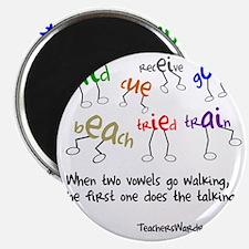 Two Vowels Go Walking Magnet