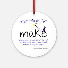 The Magic E Round Ornament