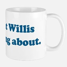 2-Willis blue text Mug