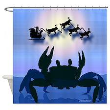 Crabby Christmas Shower Curtain
