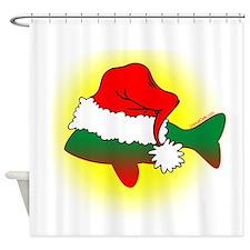 Phantom Santa Fish Shower Curtain