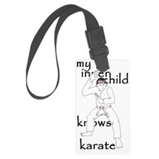 my inner child knows karate2 Luggage Tag