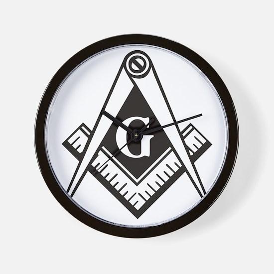 Masonic Emblem Wall Clock
