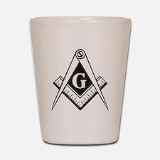 Masonic Emblem Shot Glass