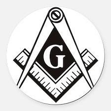 Masonic Emblem Round Car Magnet