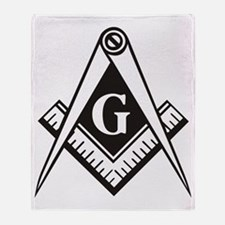 Masonic Emblem Throw Blanket