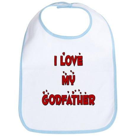 I Love My Godfather Bib