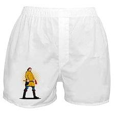 fireman firefighter standing axe Boxer Shorts