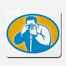 photographer with DSLR camera Mousepad