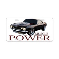 3-power Aluminum License Plate
