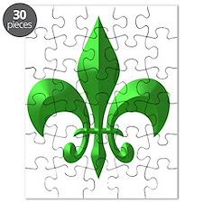 Green Metallic Puzzle