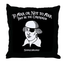 2-shakesbeard-BUT Throw Pillow