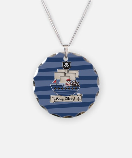 Pirate Ship Ahoy Matey Necklace