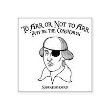 """2-shakesbeard-LTT Square Sticker 3"""" x 3"""""""