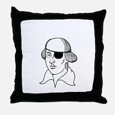 2-shakesbeard-DKT Throw Pillow
