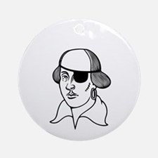 2-shakesbeard-DKT Round Ornament